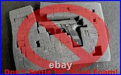 10 Pistol Hard Case Gun Handgun Carrying Storage Box Briefcase Large Black Ten