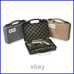 12 in HAND GUN PISTOL Revolver Hard Carry Case Locking Travel Storage Scope Box