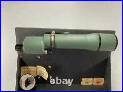 1960s Pachmayr, 5 Gun, Deluxe Pistol Case Range Box & B&L 60mm Spotting Scope