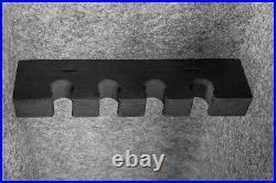 3.15 ft³ Biometrict 4-Rifle Long Gun Safe Cabine Fingerprint With1 Handgun Box
