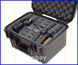 4 Pistol Gun Hard Case Large Carrying Storage Padded Lockable Box Waterproof NEW