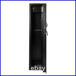5 Gun Rifle Storage Pistol Safe Box Security Cabinet Electronic Dual Lock Steel