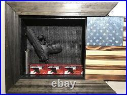 American Flag Concealment Cabnet Secret Hidden Storage Box Gun Box Document Box