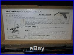 Antique 1930s HAENEL GUN Model 26 RARE. 177cal Air Pellet PISTOL withOrig. BOX