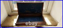 Antique mahogany pistol/gun box