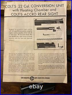 BOXED COLT 1911 CONVERSION UNIT KIT Slide Barrel 10 Rnd Magazine. 22LR. 45 ACP