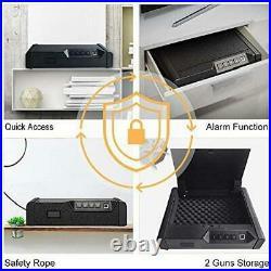 Biometric Fingerprint Pistol Safe Box Handgun Gun Security Storage Digital Lock