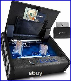 Biometric Fingerprint Pistol Safe Metal Case Box Gun Handgun Firearm Storage NEW