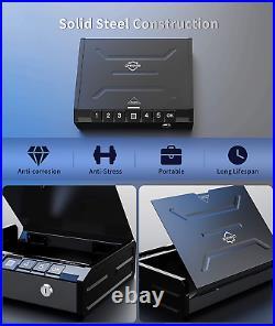 Biometric Gun Safe Firearm Handgun Pistol Storage Fingerprint Metal Lock Box New
