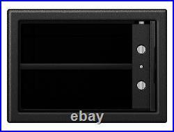 Black Gun Security Safe Box Vault Organizer for Pistol Handgun w electronic Lock