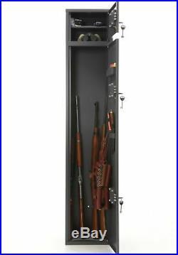 Buffalo 1520 Two Doors Gun Rifle Metal Security Cabinet Safe withSeparate Lock Box