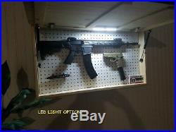 Burnt American Flag Concealment Compartment Cabinet Hidden Gun Storage Box Case
