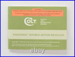Colt Anaconda Box, OEM Case With 1993 Manual, And Much More