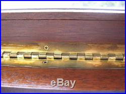 Colt Firearms Vintage Original Wood/glass/metal/felt Pistol/gun Case/box/display