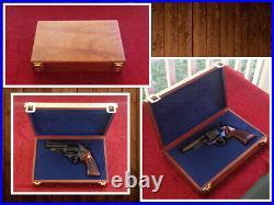 Colt Revolver Python Diamondback Anaconda Fitted Wood Presentation Case Box