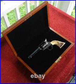 Colt SAA Ruger Uberti Pietta Revolver Wood Presentation Case Box Custom Fitted