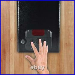 Electronic Firearm Gun Safe Pistol Security Box with Mechanical Override withkey