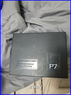 Factory Heckler & Koch Hk P7 Box, Manual, Take Down Tool, Cleaning Brush