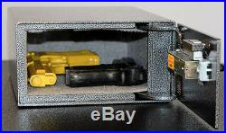 Fort Knox Personal Pistol Box Portable Steel Handgun Safe Conceal Secure Gun