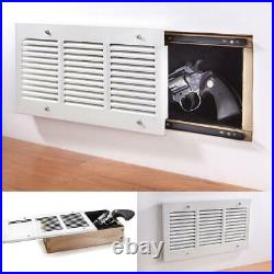 GUN SAFE CONCEALED WALL AIR VENT Storage Secret Hidden Jewelry Container Box New