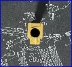 Glock 19 Gen 3 Box Fluted Match Grade Barrel TiN Gold Polymer80 PF940C G19 1-4
