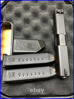 Glock 19 Gen 3 OEM Complete Upper Slide G19 P80 2 Mags speed loader & box