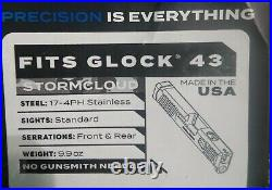 Glock 43/43x Precision Slide, New In The Original Box, Only One Left, No Return