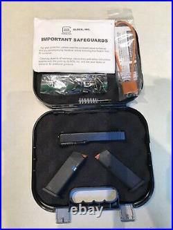 Glock 43X Complete Slide, Lower Parts Kit, 2 Magazines, Box, Paperwork, P80, 43