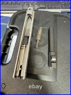 Glock 48 SILVER 9mm Complete Upper Slide, 2 Mags, Factory Box10 Rounds SS80 P80