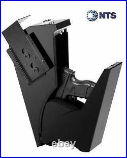 Gojooasis Gun Safe Quick Access Under Desk Pistol Security Handgun Storage Box