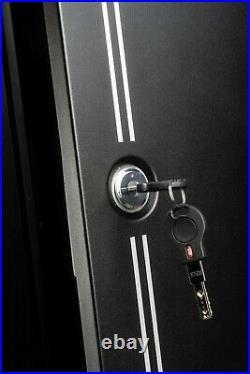 Gun Cabinet Safe 14 Gun Cabinet with FREE Ammo Box Rifle Shotgun Pistol Security