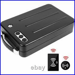 Gun Pistol Handgun Safe Box Case Metal Security Cable RFID Quick Access Key Lock