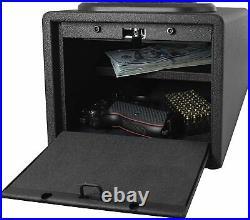 Gun Safe High Capacity Lock Box Cabinet Case Handgun Ammo Firearm Vault Safety