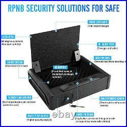 Gun Security Safe Box Case Metal Secure Pistol Storage RFID Lock Quick Access
