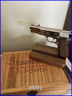 Hand Gun Presentation Case Wood Display Box fits Browning High Power-custom Oak