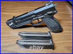 Hk usp match airsoft KWA gas blowback with 2 magazines and box