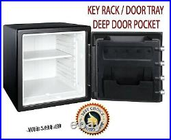 Home Safe Gun Cash Security Fire Water Combination Lock Box Solid Steel Black US