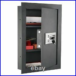 Home Security Wall Safe Electronic Lock Gun Jewelry Handgun Box Safes