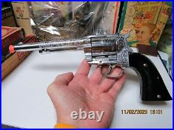 Hubley Ric O Shay 1959 Cap Pistol Gun Diecast Boxed Nm Never Used Sealed Bullets