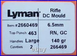 LYMAN/IDEAL 266469 6.5mm 140 GRAIN MOULD MOLD 2660469 NEW IN BOX