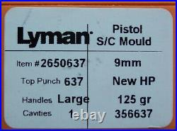 LYMAN/IDEAL 356637 9mm 125 GRAIN HOLLOW POINT MOULD MOLD 2650637 NEW IN BOX