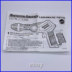 MATTEL BATTLESTAR GALACTICA Lasermatic Pistol with Box, Insert & Instructions