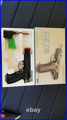 Mgc Model Gun Vintage Airsoft Cz75 Gas Blow Black Pistol Box&papers New Old Stk