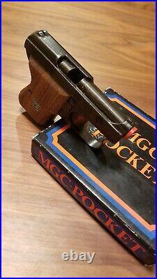Mgc Rmi Beretta Pocket Leopardo M418 James Bond Pistol Nos Stock Wood Grip Boxed