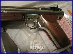 NOS Benjamin H17 PISTOL with ORIGINAL BOX Mint Condition. 177 Cal Nickel Silver