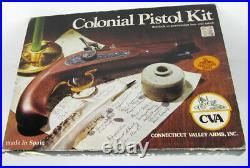 NOS Sealed box NEW Unbuilt CVA Colonial Pistol Kit KA704 Percussion 45 Cal