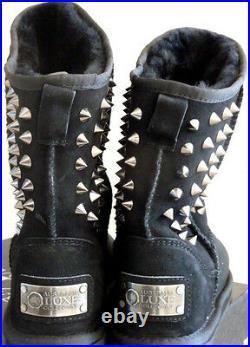New in box Australia Luxe Collective PISTOL Short Sheepskin boots in BLACK