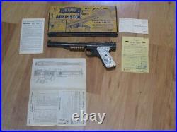 Nice Benjamin Franklin Model 137 Pump Pellet Air Pistol With Box. 177 Cal bb Gun