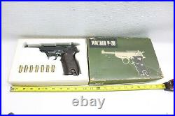 Nice Rare Vintage HTF Nakata MGC Dummy Prop Walther P-38 Metal Pistol With Box