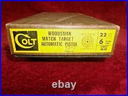 Original 1962 Colt Pistol Box For Woodsman Match Target Automatic 22 LR Pistol